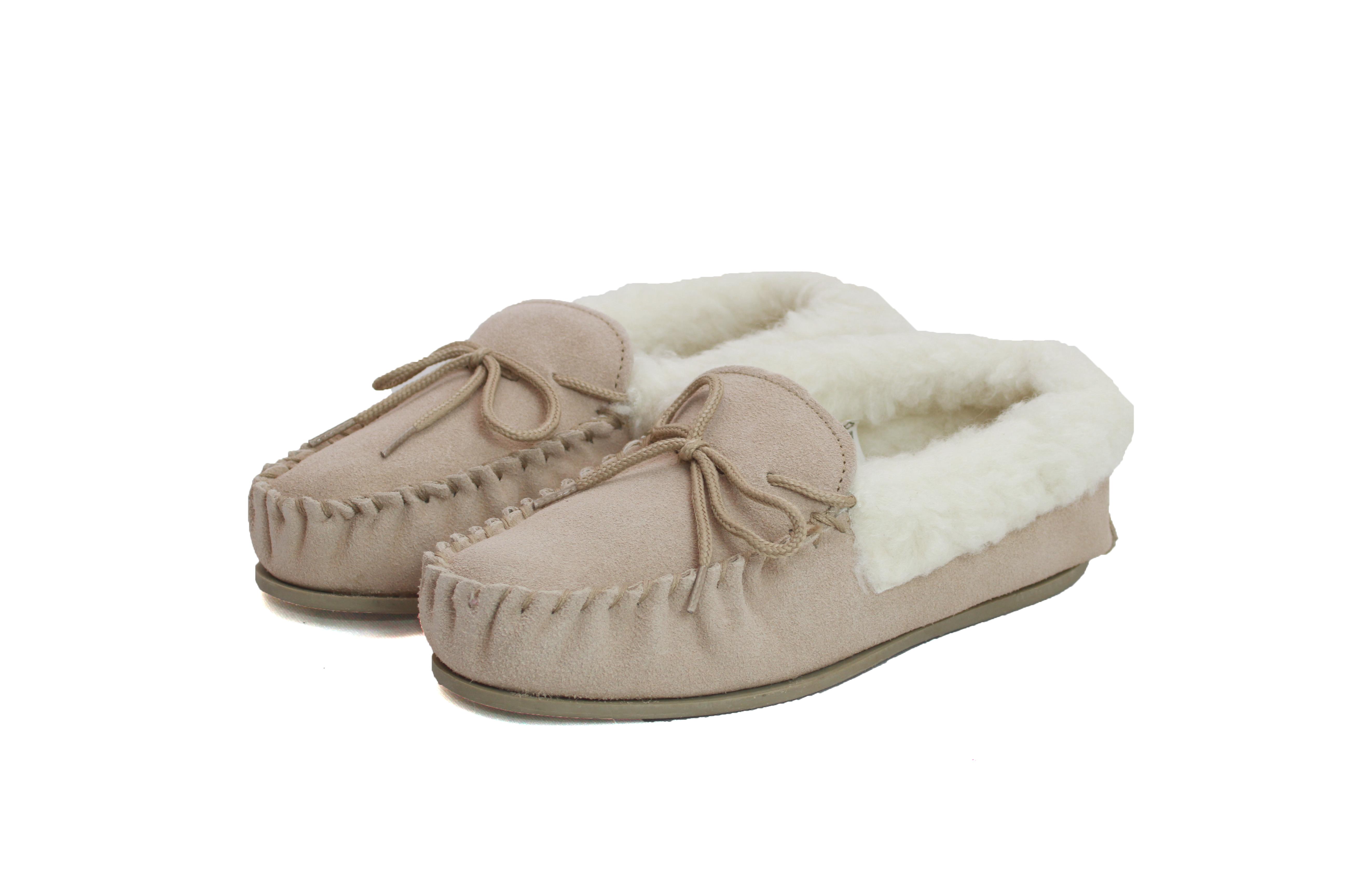 Ladies Hard-Sole Sheepskin Moccasin – LSM1/S