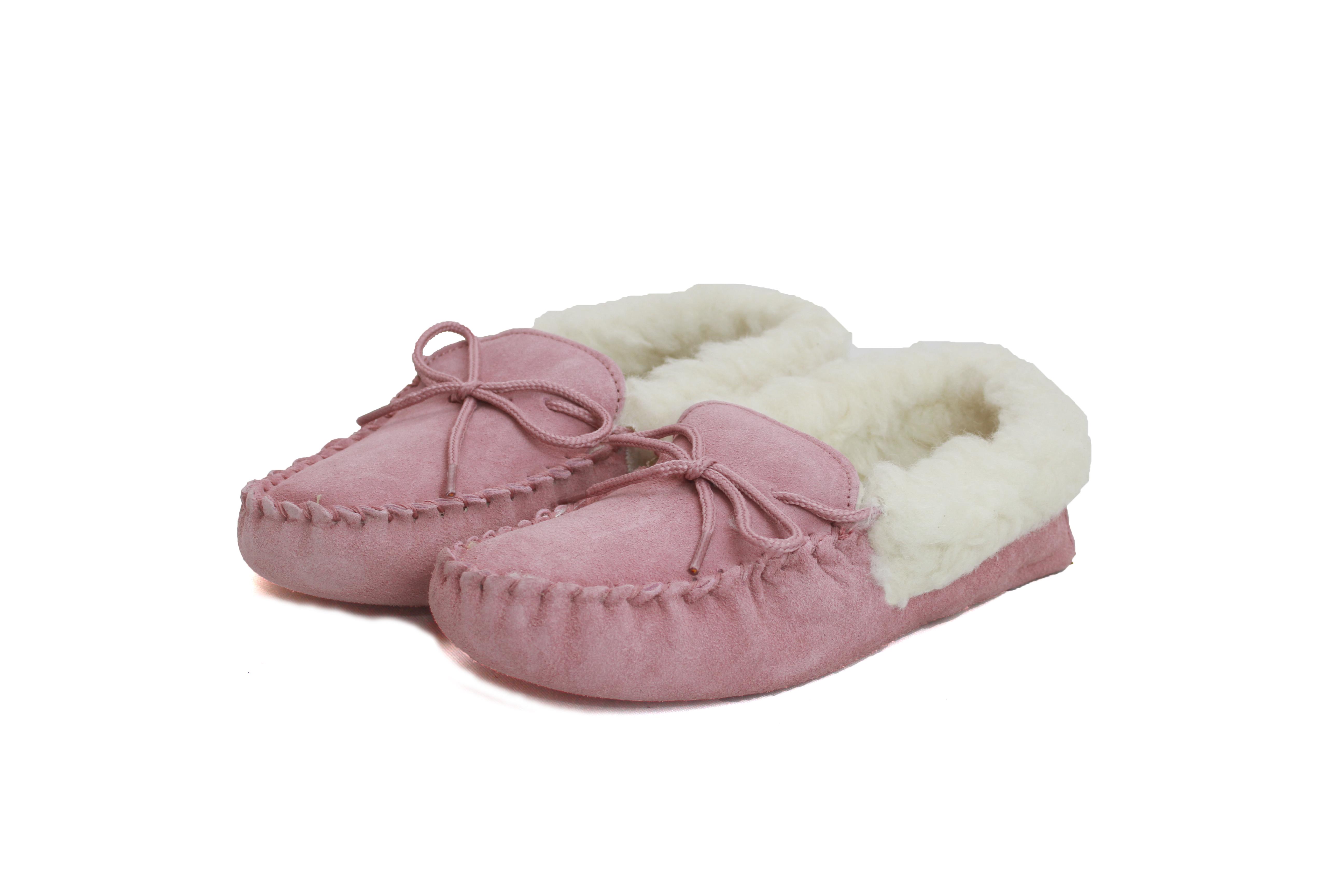 Ladies Soft-Sole Wool Moccasin – LWM1