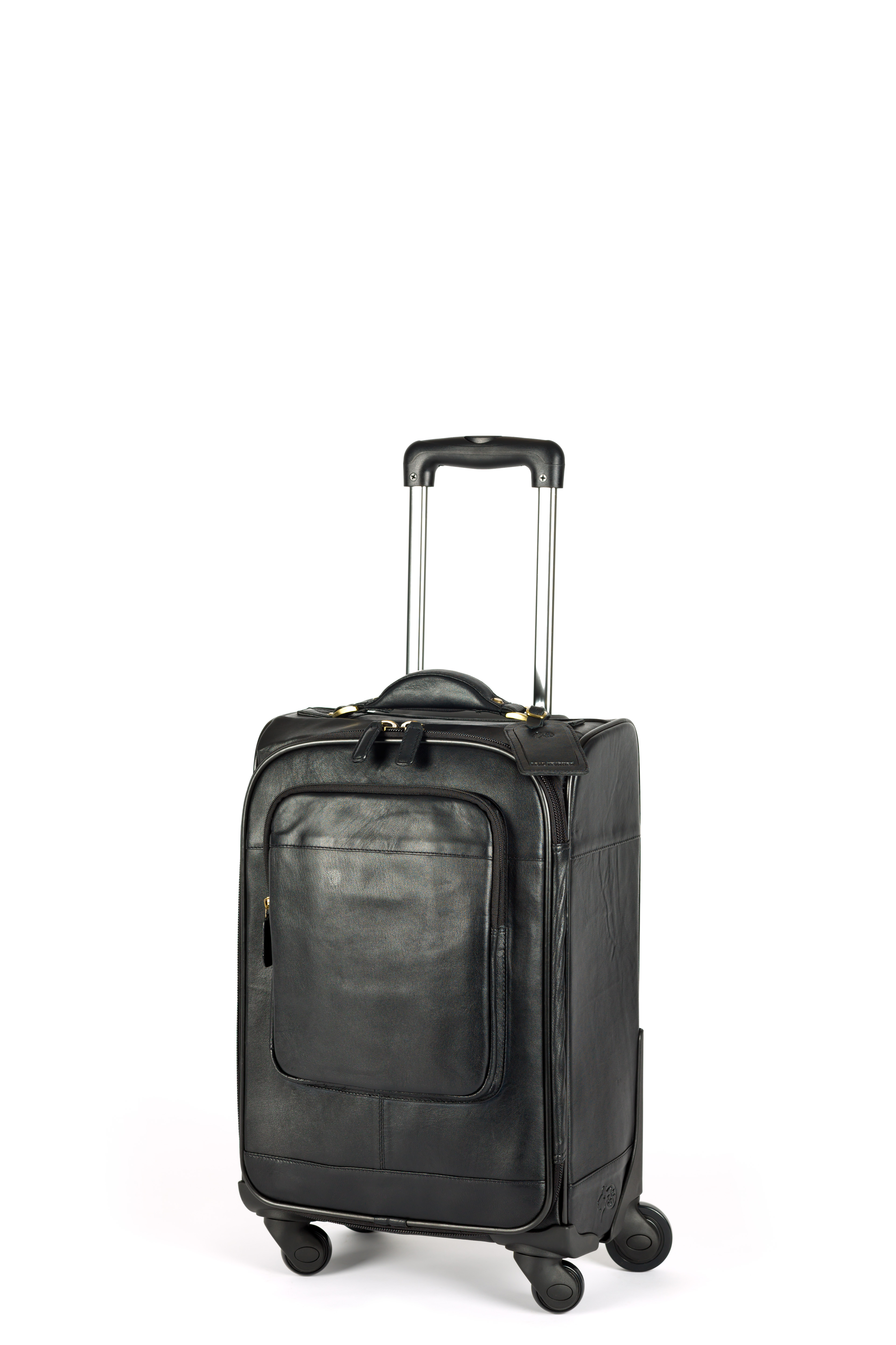 Leather Trolley Suitcase