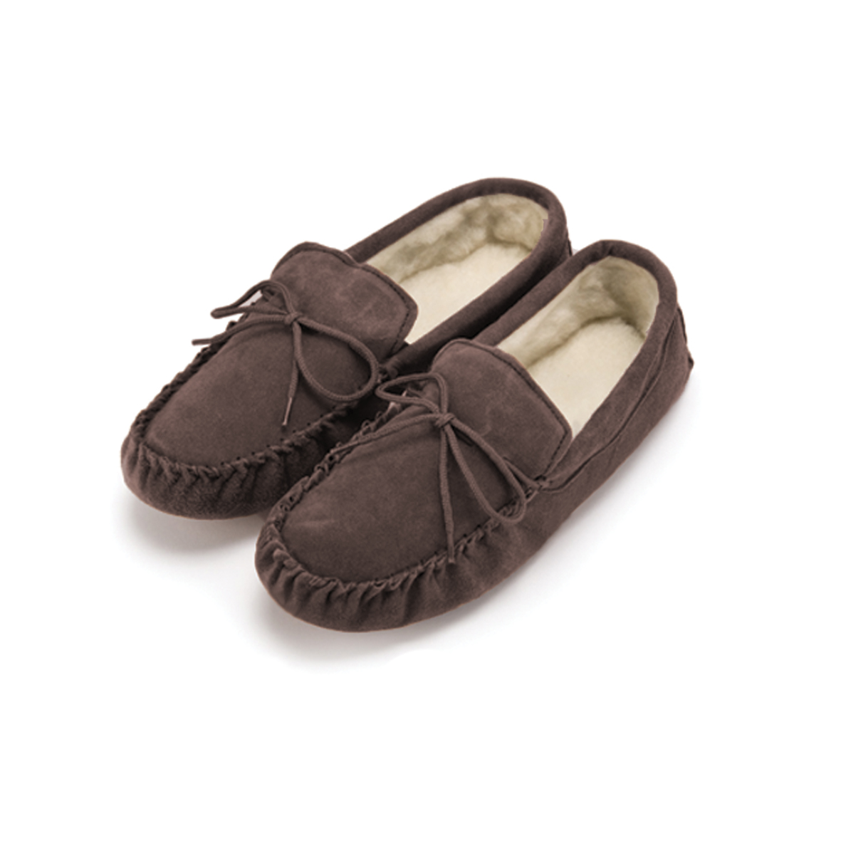 Sheepskin Lined Moccasins with hard sole – GSM1/S