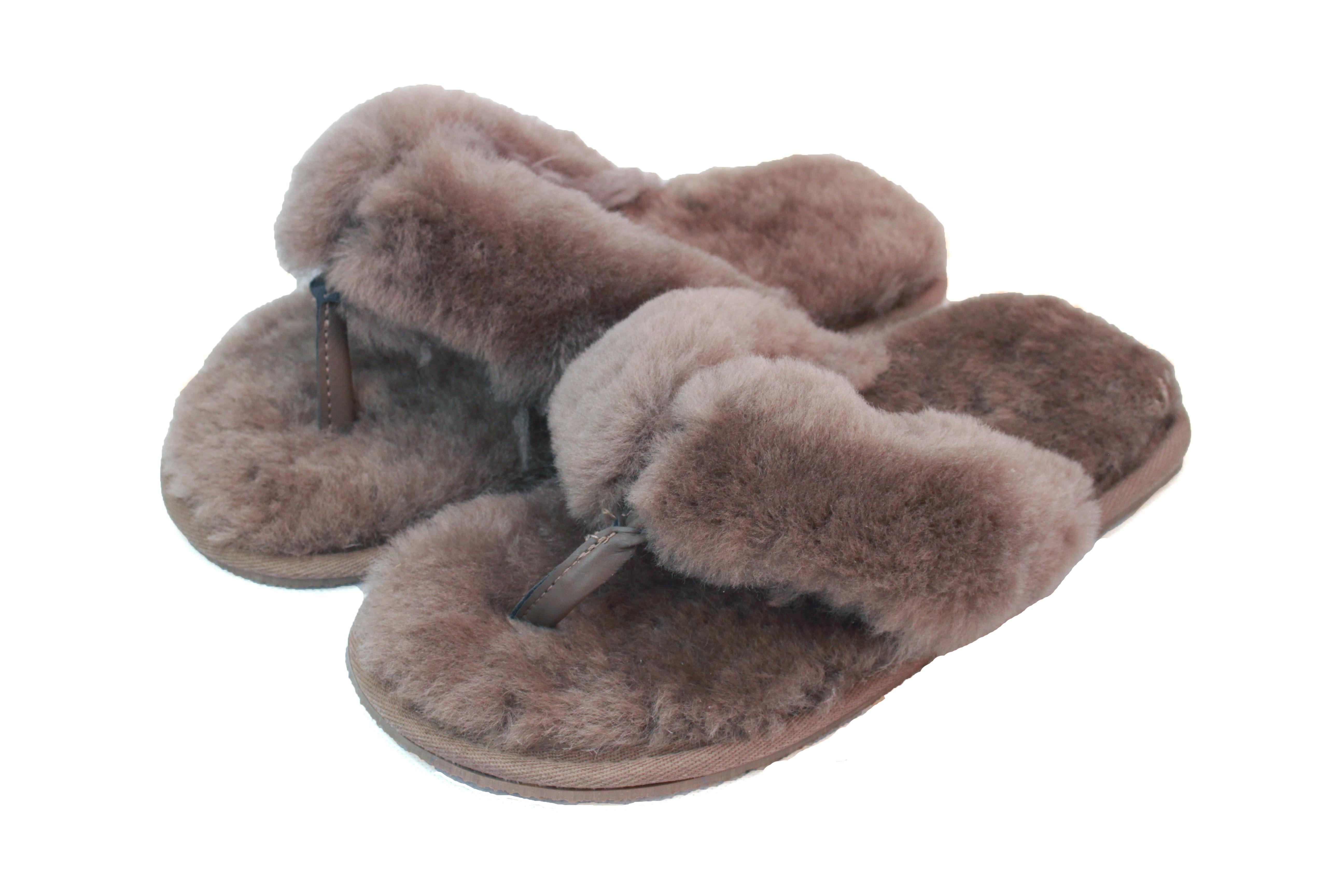 Sheepskin Toe Post Slippers – ECL979